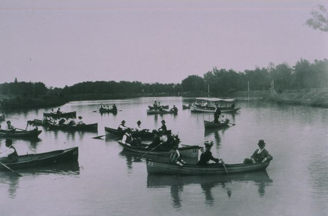 Boating on Post-Dispatch Lake