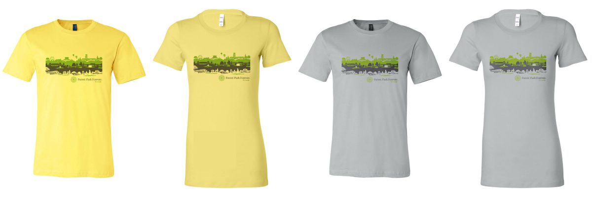 Shirts are available in both men's and women's sizes from small to XXL in either yellow or grey.