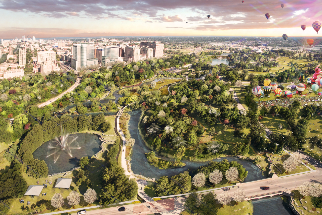 Project renderings show planned Park improvements.