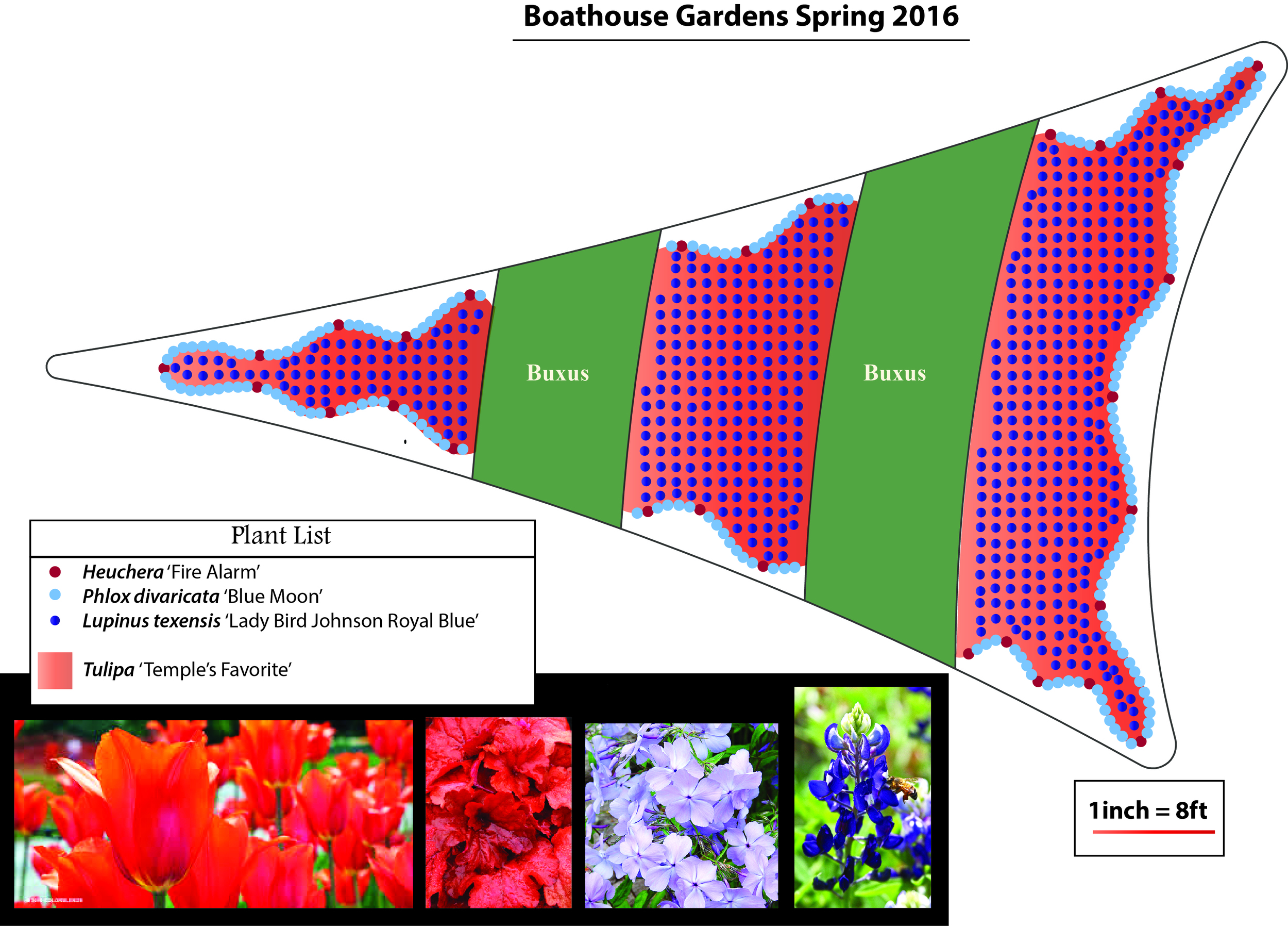 A mock-up of the proposed spring 2016 display