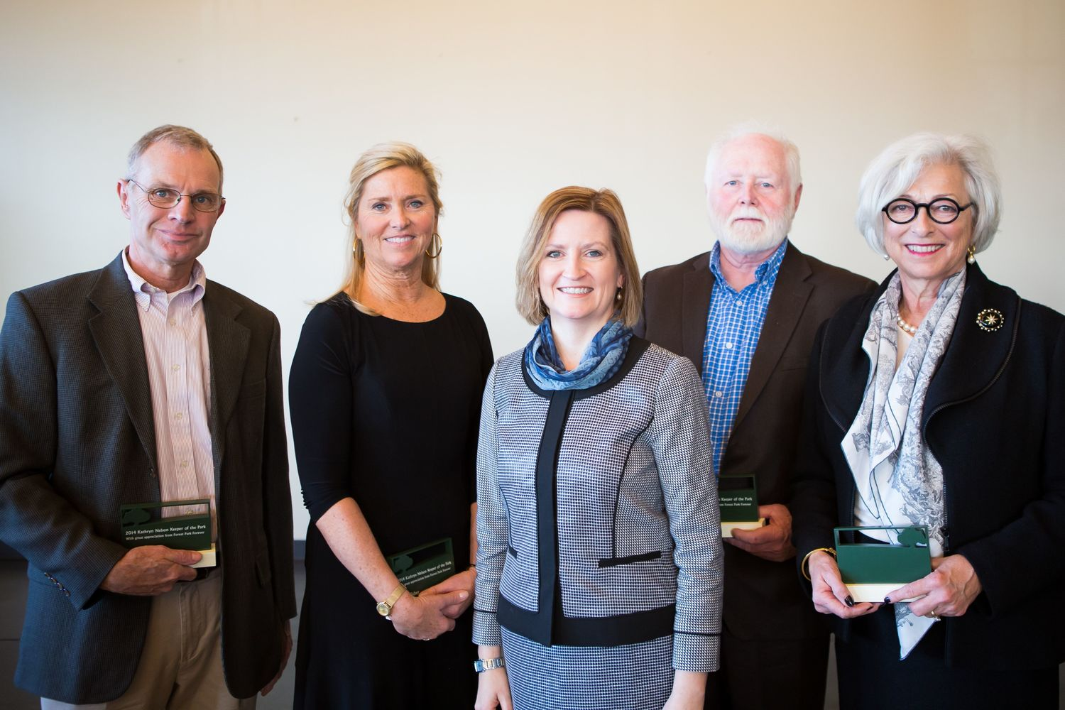 The 2014 awardees pose with FPF President and Executive Director Lesley S. Hoffarth, P.E.