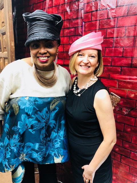 Harriet Rosebud with FPF President & Executive Director Lesley Hoffarth at a recent show at Afro World