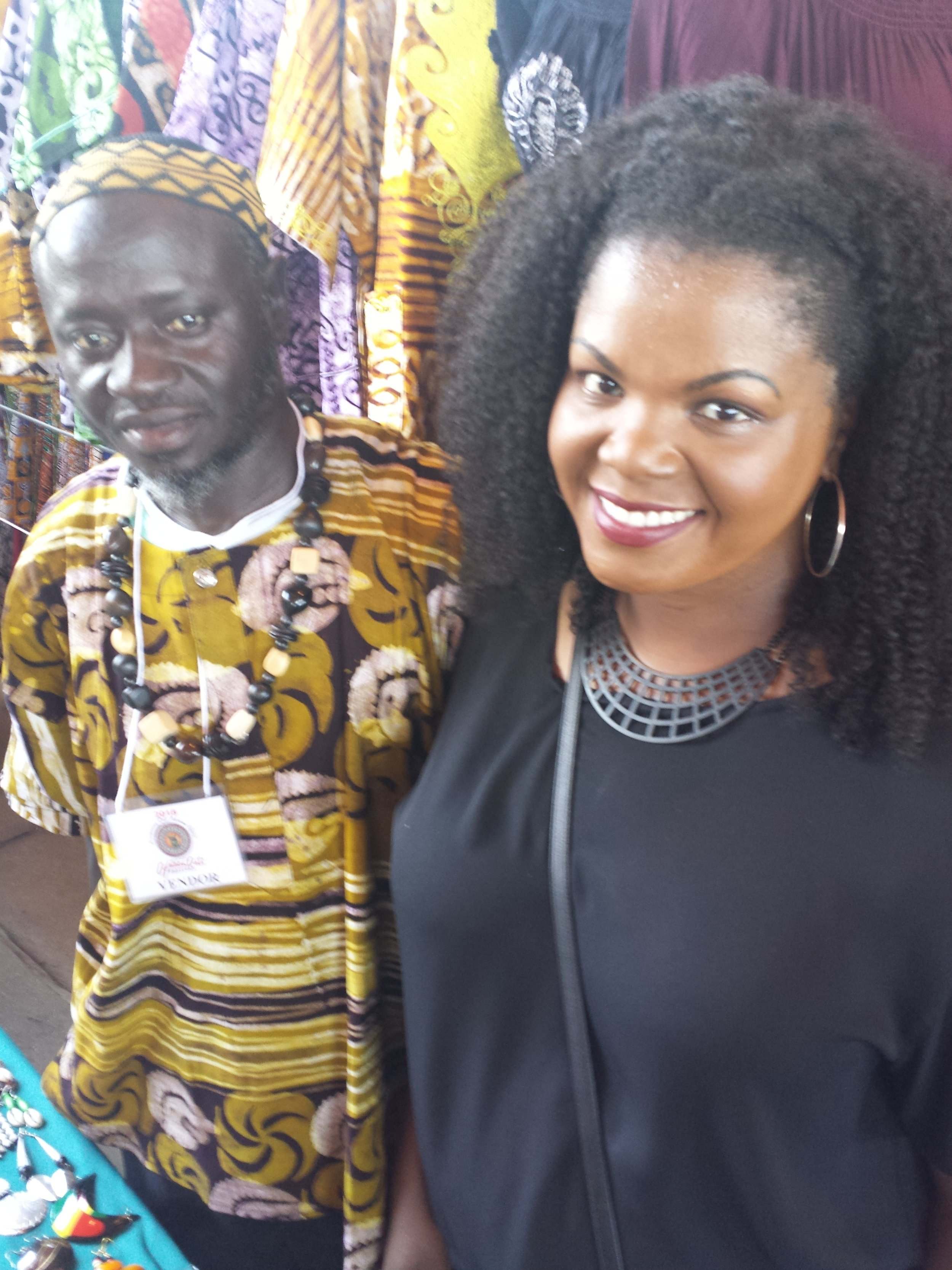The author (right), with Nfamara Touray