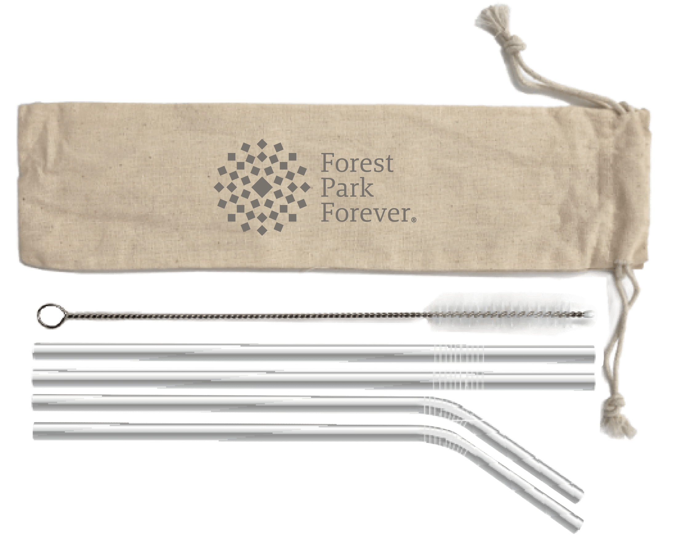 Park Naturalist Gift: Reusable Stainless Straw Set