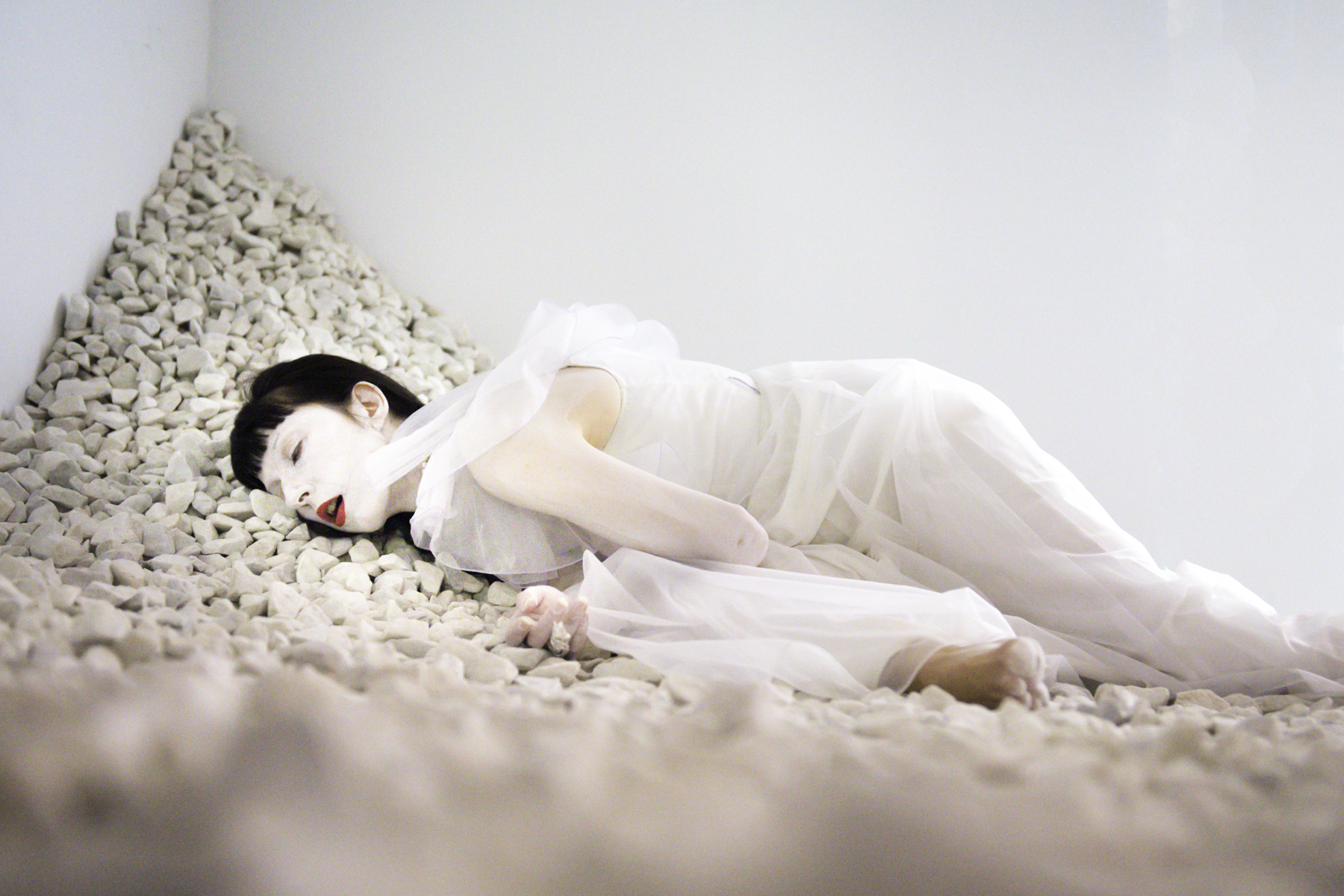 PASSAGE, at Ise Cultural Foundation,with artist Michele Beck (2013)  Photograph by Michael Blase
