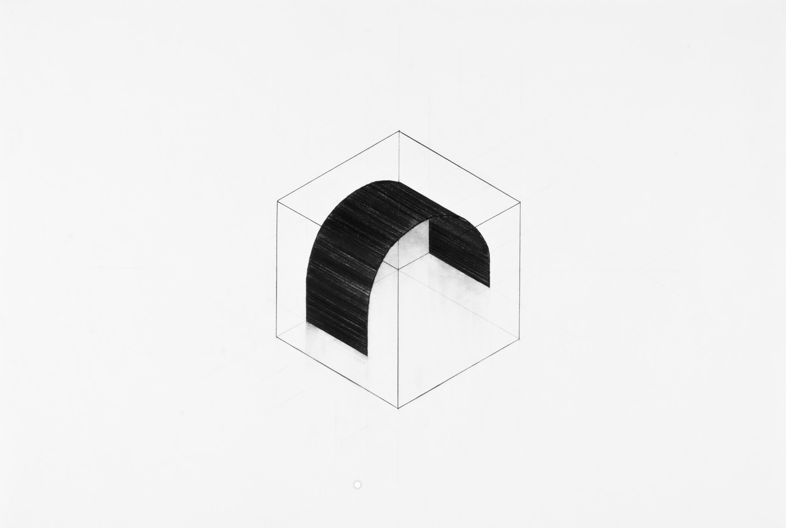 """Arc Diagram II"" (2013), Pencil on Paper"