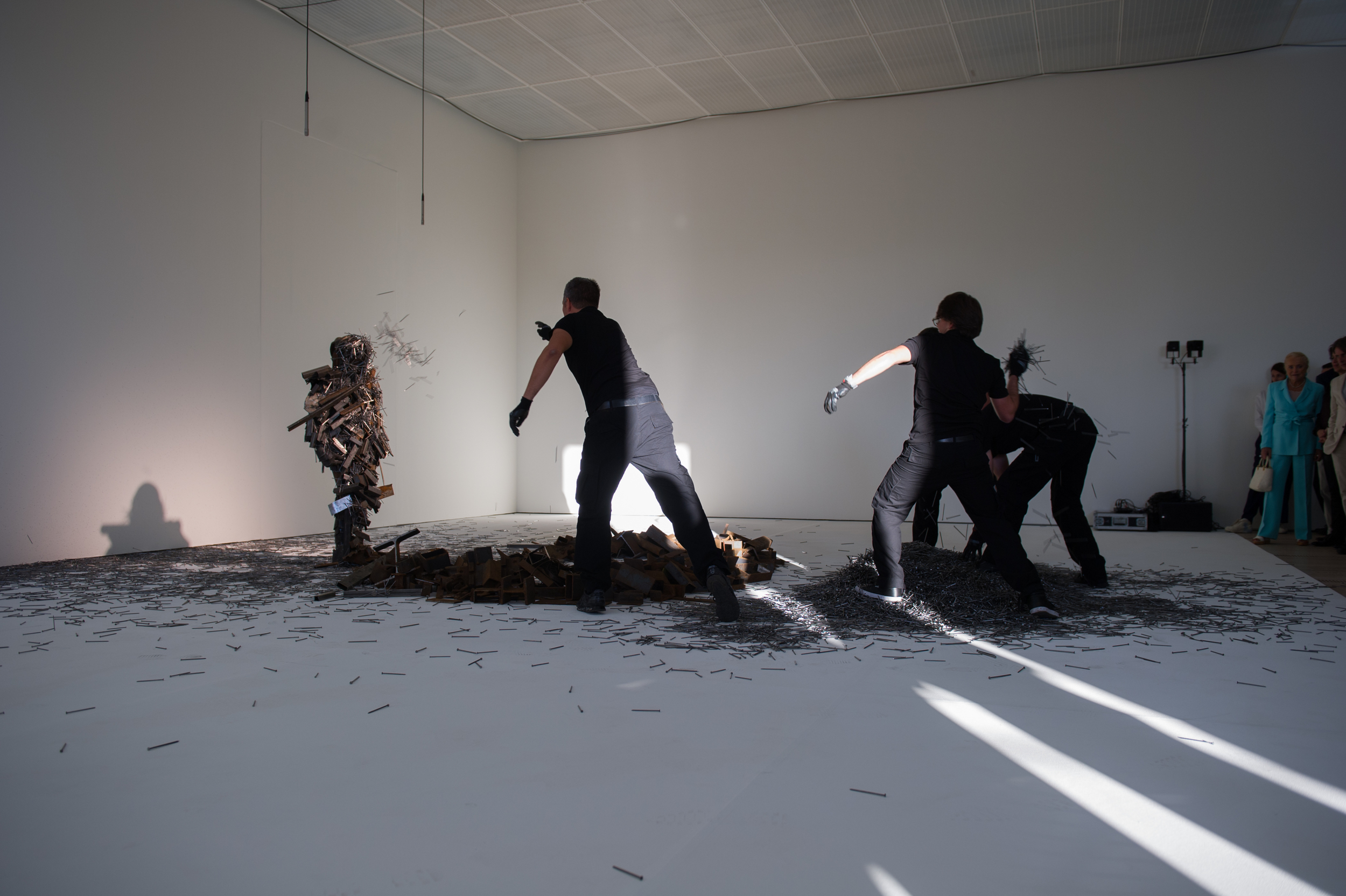 """Paula Garcia performing """"#8 (Noise Body Series)"""" at  The Beyeler Foundation inBasel, Switzerland in 2014. Photograph courtesy of the artist"""