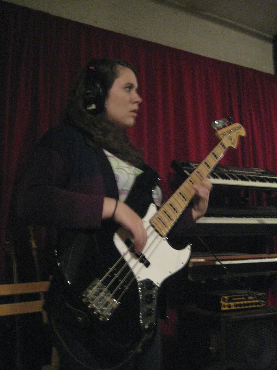 Jessica Kion on bass.