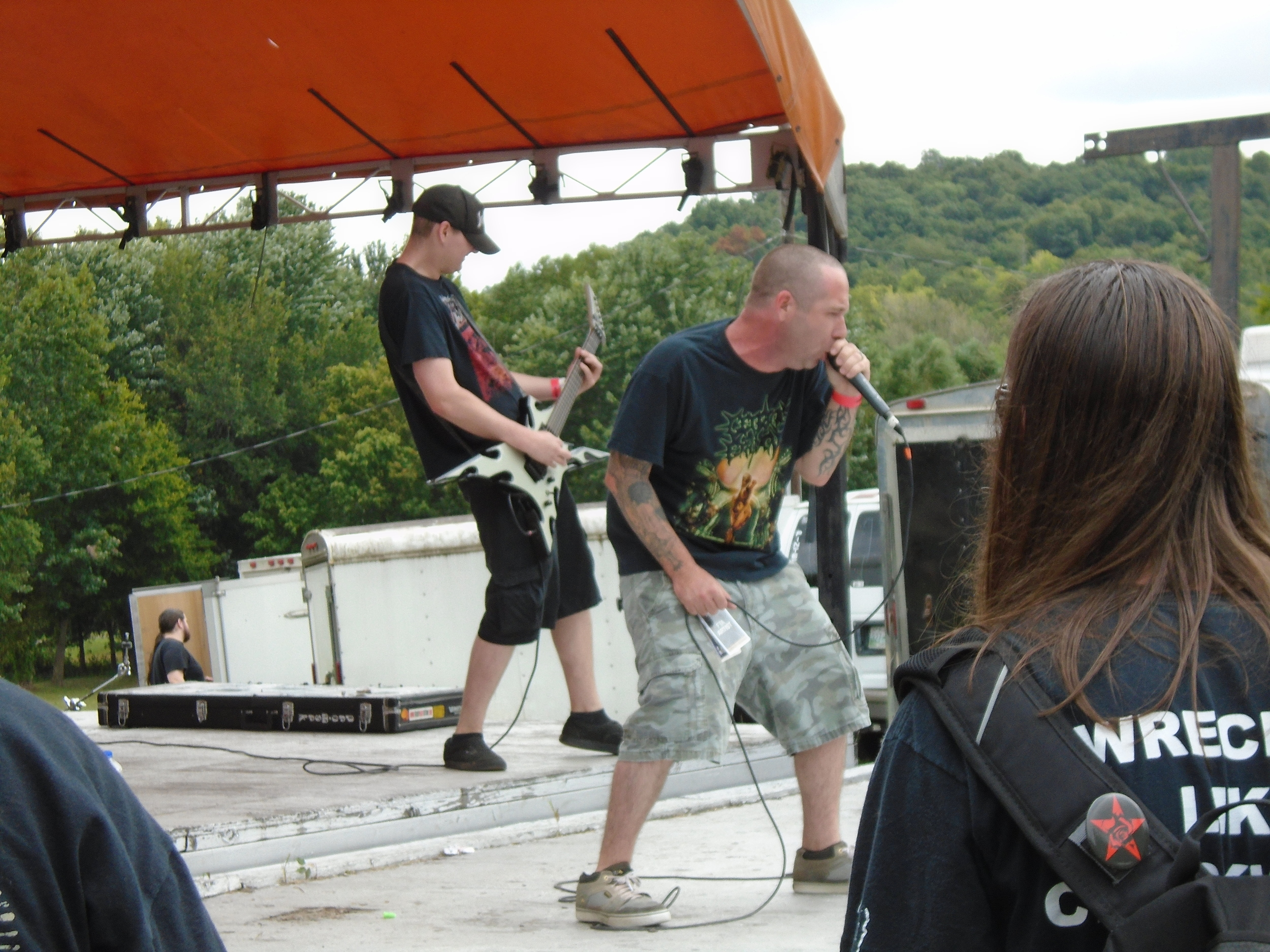 Coathanger Abortion During their set on the NRR stage @ Full Terror Assault