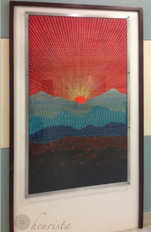 """Sunrise Over The Piedmont"", Stephen Lange, Duct Tape, 3'3 1/2 wide x 6' 1/2 tall"