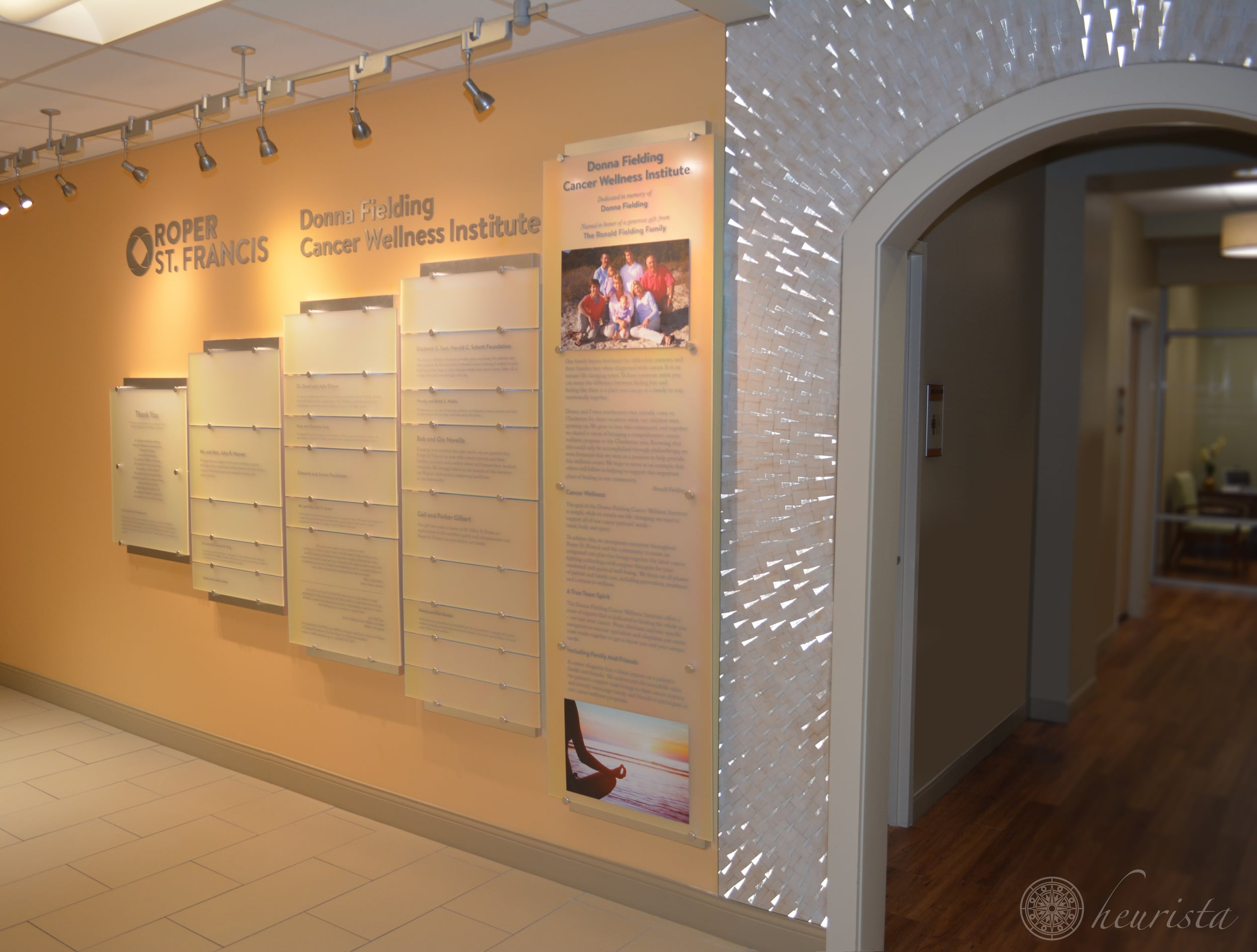 Donor Recognition Wall,Roper St. Francis: Donna Fielding Cancer Wellness Institute