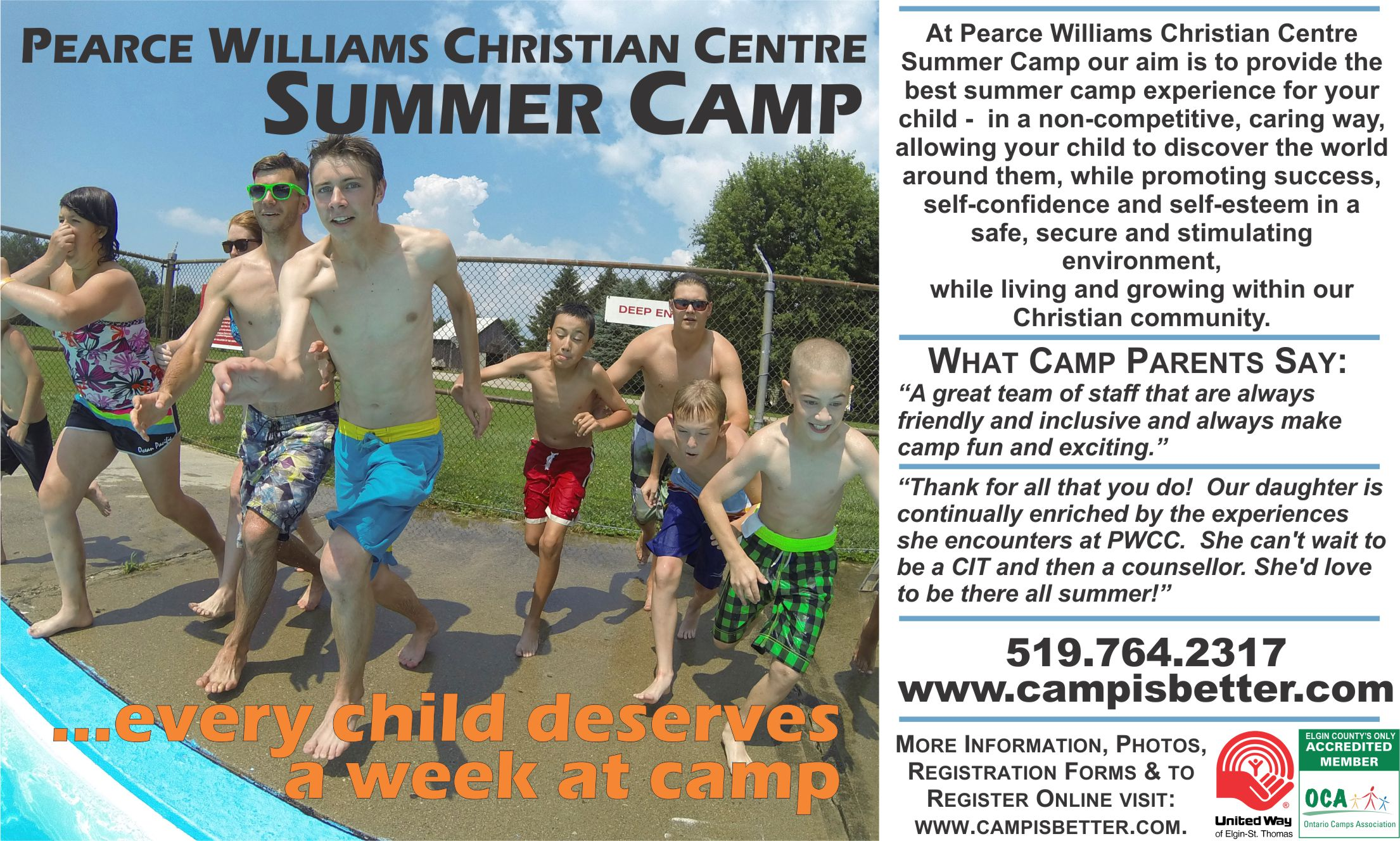 Active Elgin 2014 Pearce Williams Christian Centre Ad.