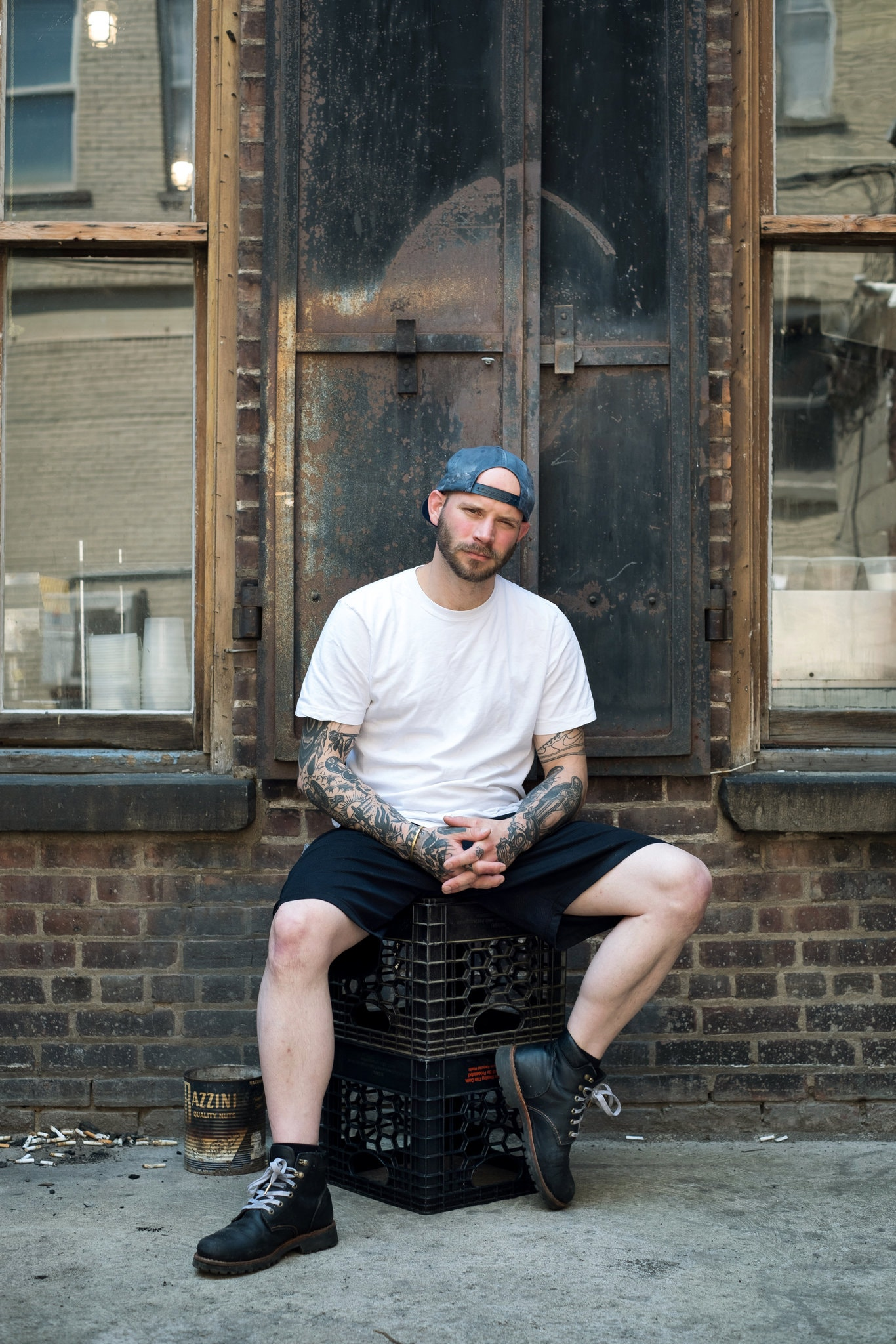 CT Turgeon, who worked at a two-Michelin-starred restaurant in Chicago before relocating to Kingston, opened Wilde Beeste with five of his friends.CreditRichard Beaven for The New York Times