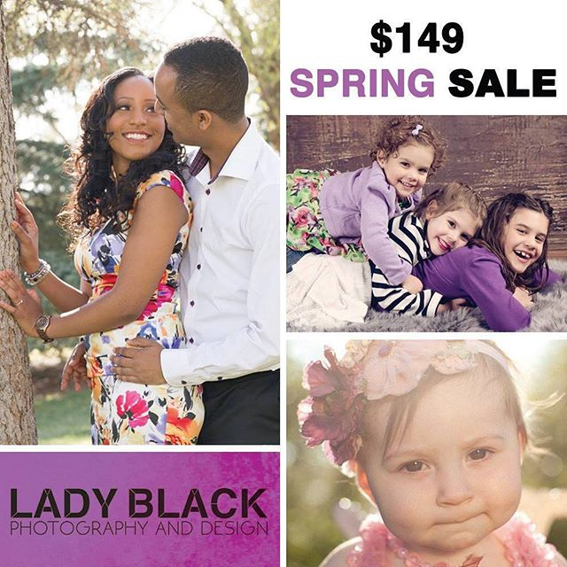 Last chance to scoop up this deal. Purchase now, book later! Deal ends Thursday! $149 includes a 1 hour photo session and 10 high resolution digital images. Visit ladyblack.ca today! #YEG #yegsale #yegdeals #shpk #edmontonphotography #edmontonphotographer #edmonton #yegphotography #yegphotographer