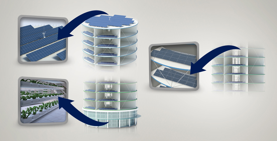 Solar PV's can be mounted on it to create a hybrid system.