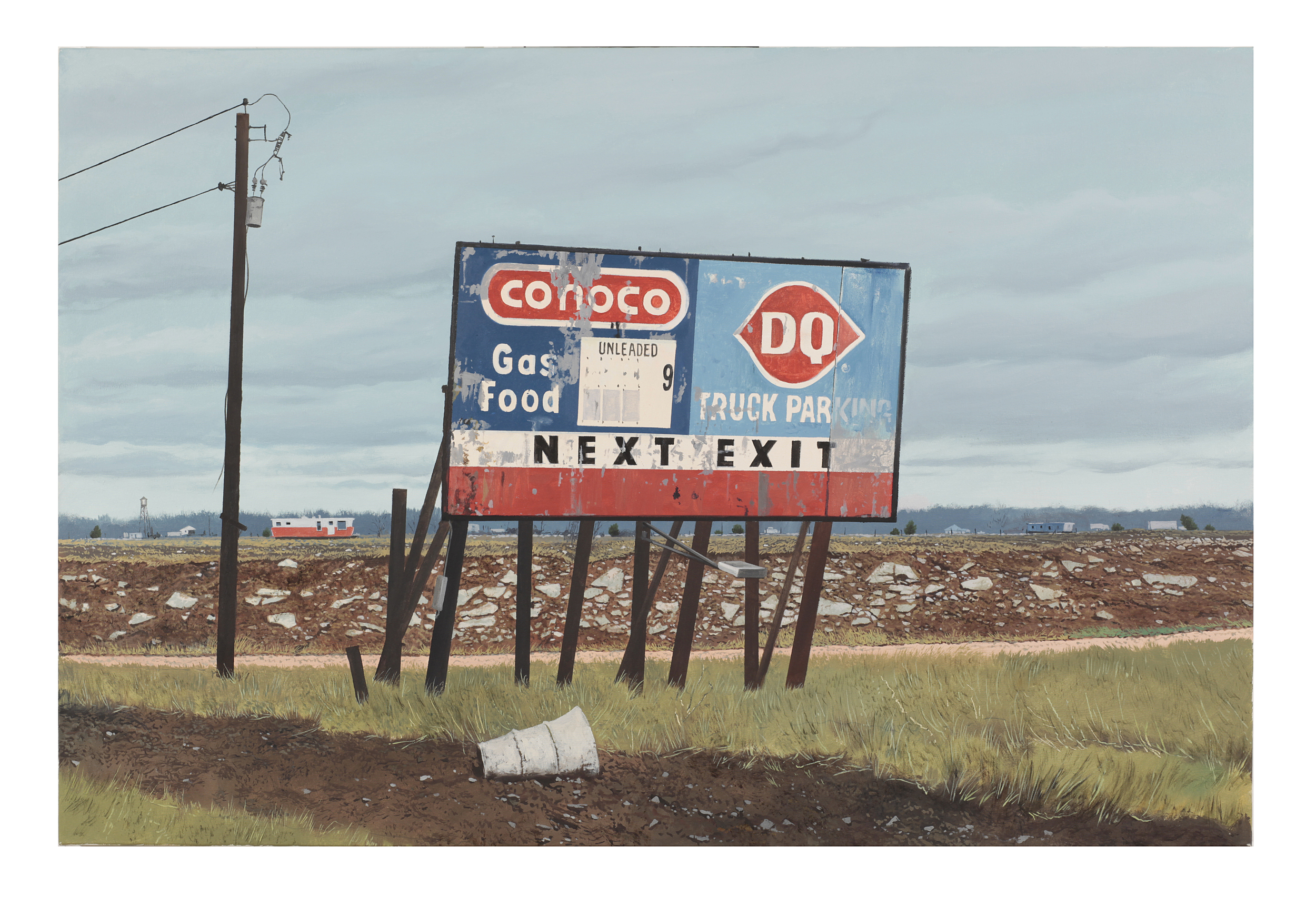 "Daniel Blagg,  Way to Midland,  oil on canvas, 40 x 60"" $11,000.  Contact Artspace111 to purchase."