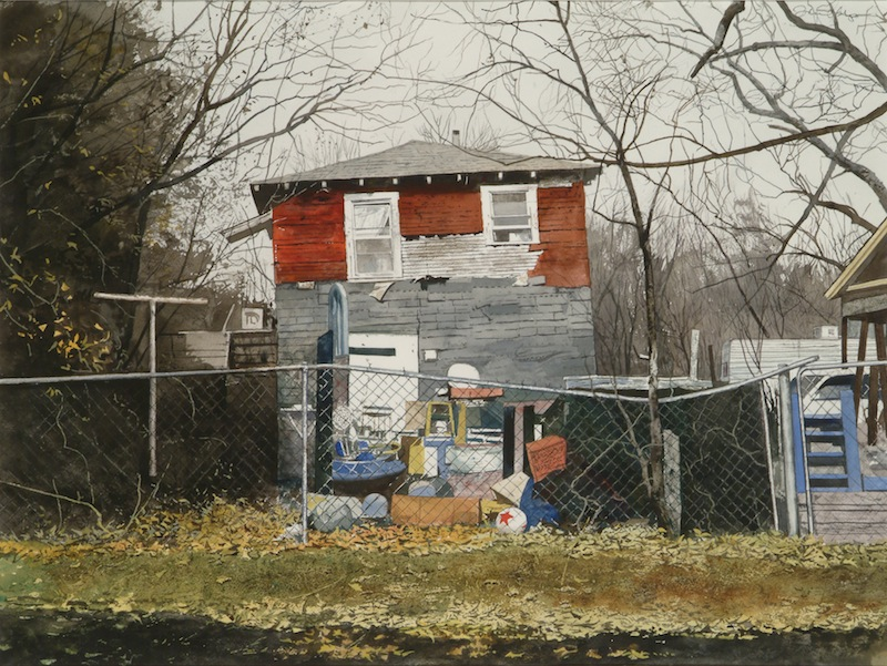 "Daniel Blagg, The Poor House, watercolor on paper, 27 1/2 x 35"". SOLD"