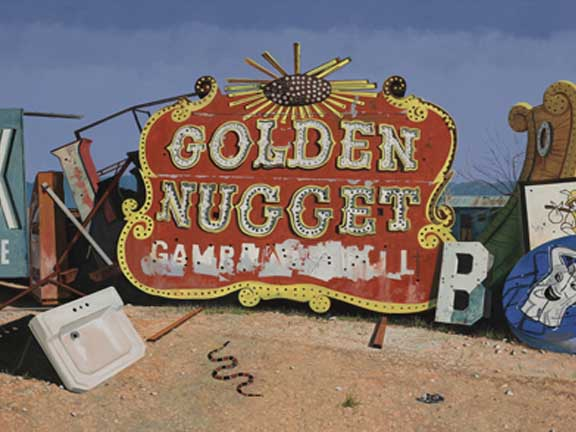 "Daniel Blagg, Golden Nugget, 2009, oil on canvas, 60 x 80"". Private Collection, Dallas, TX."