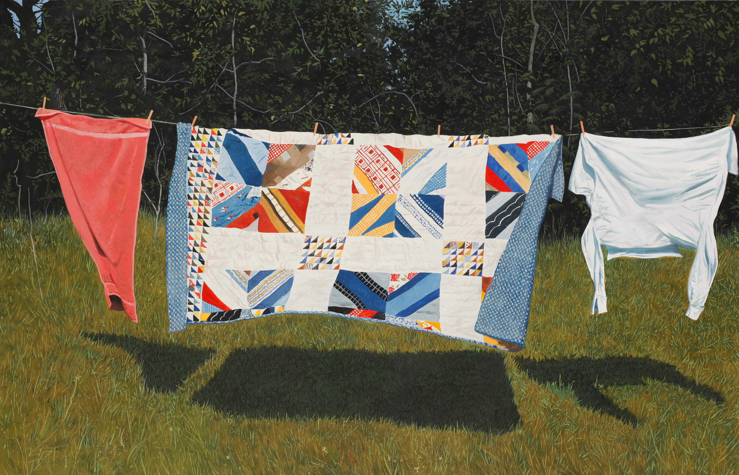 "Daniel Blagg, Airing Out, 2005, oil on canvas, 40 x 60"". Private Collection, Canada."