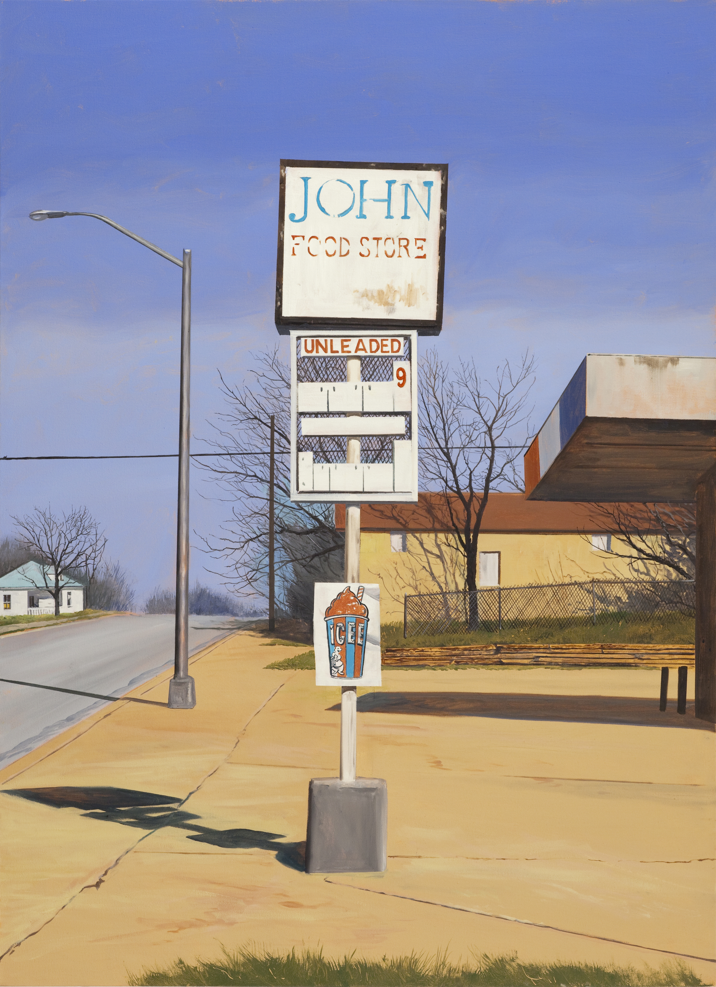 """Daniel Blagg, ICEE Time, oil on canvas, 52x 38"""". Contact Artspace111 to purchase."""
