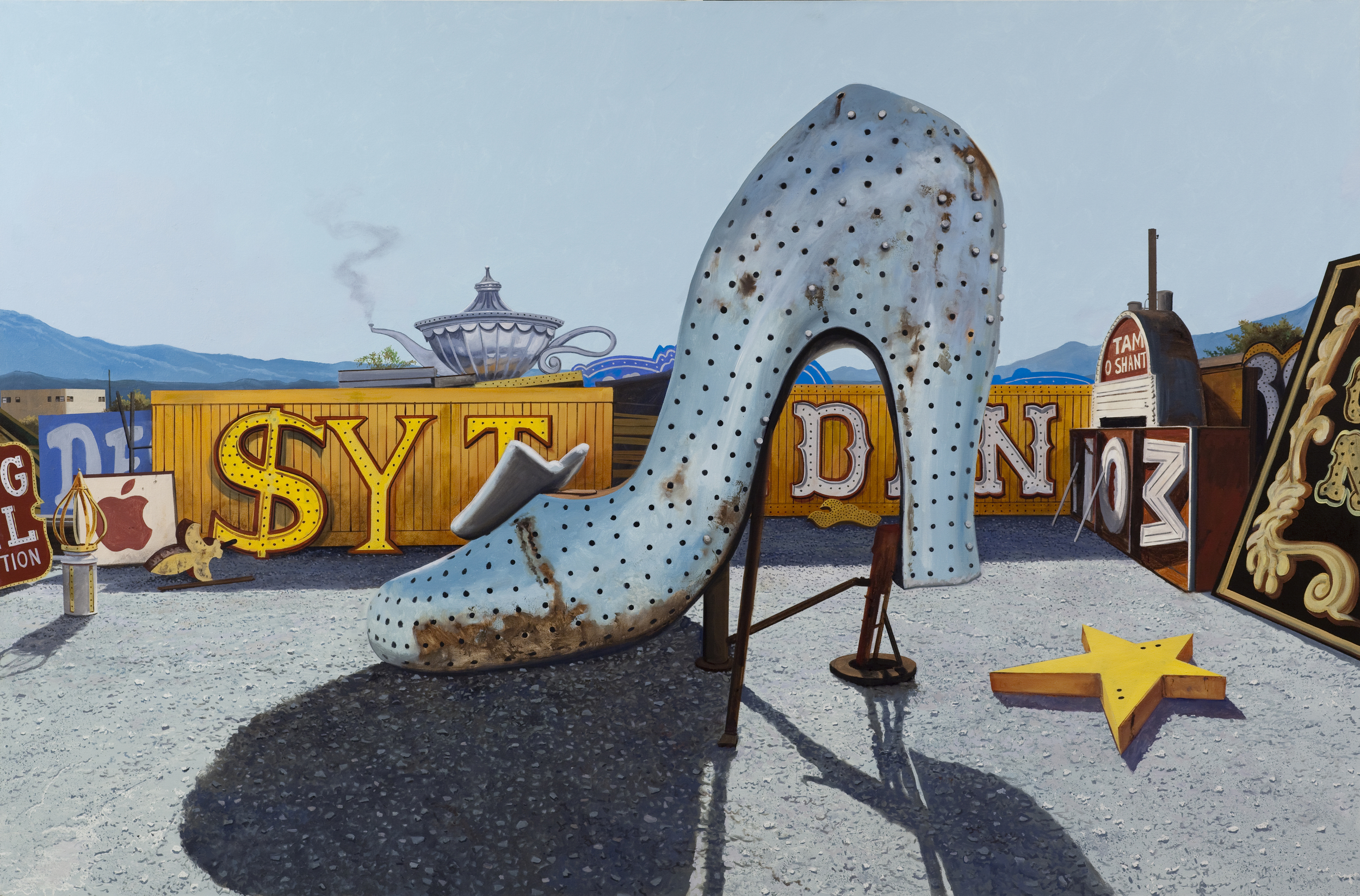 "Daniel Blagg,  Steppin' Out , oil on canvas, 58 x 88"" $29,000.  Contact Artspace111 to purchase."
