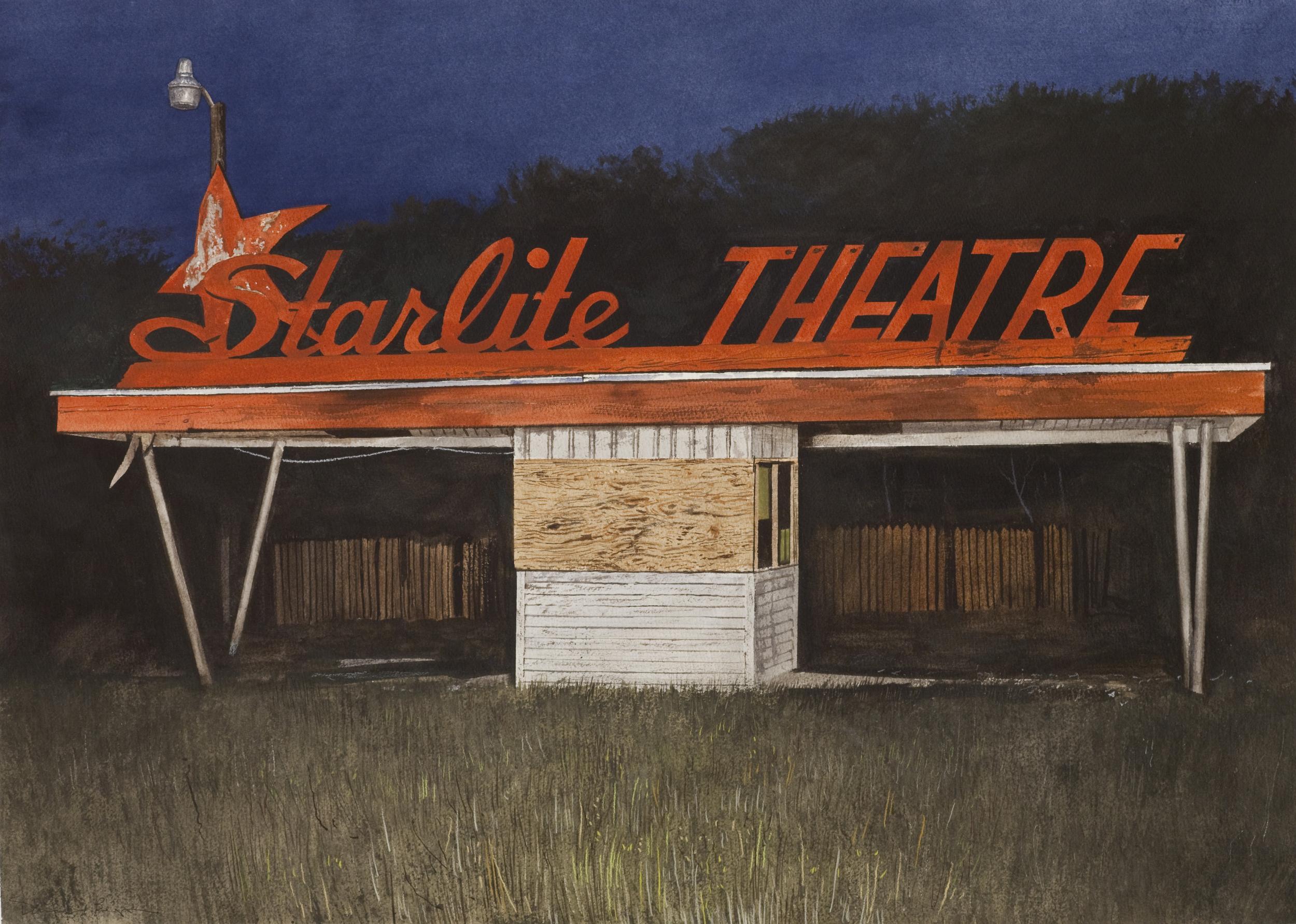 """Daniel Blagg, Starlite , 2014, oil on canvas, 38 x 58"""". Private Collection, San Antonio, TX."""