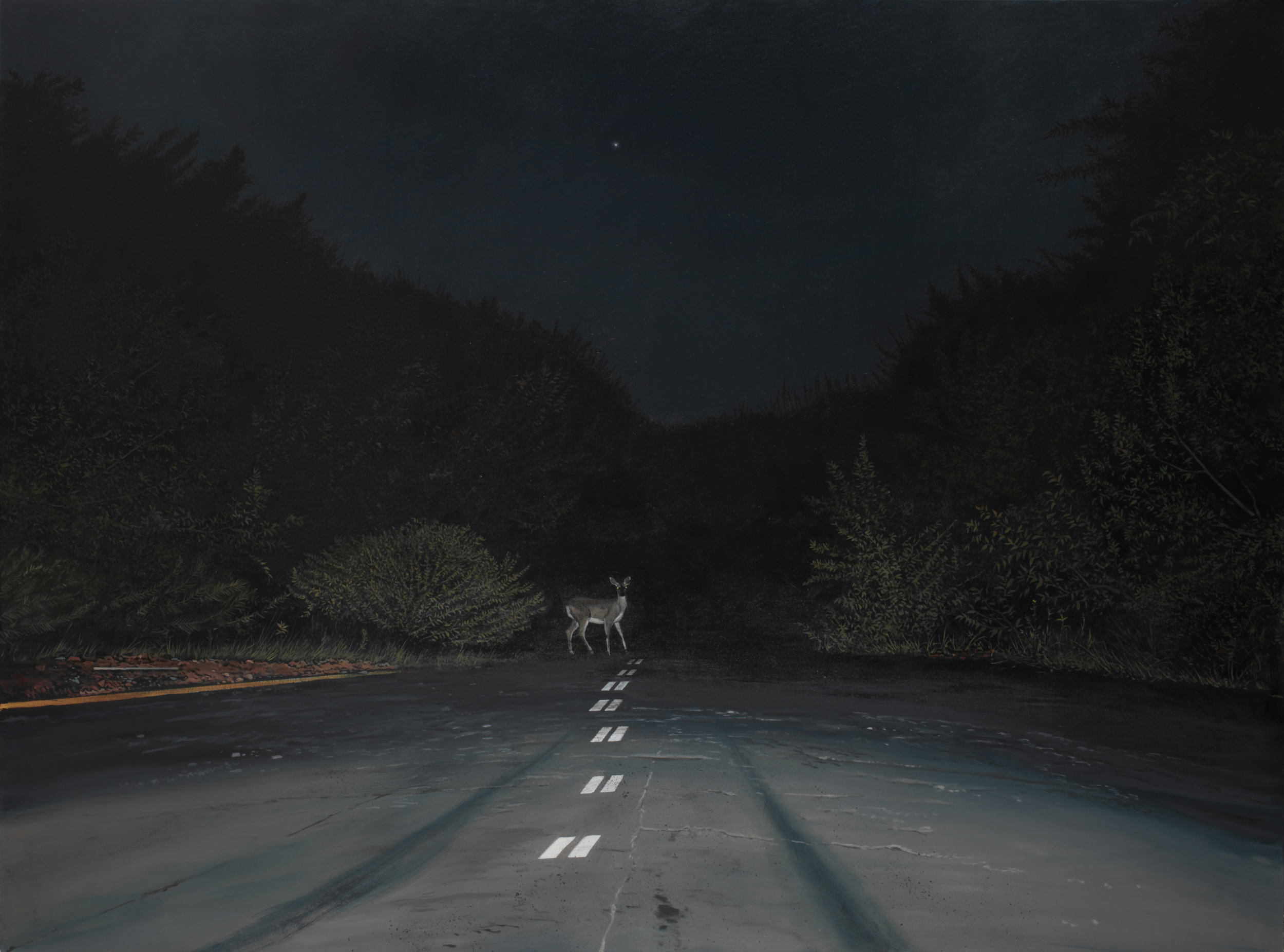 "Daniel Blagg,  Evening Star, 2015 ,  oil on canvas, 58 x 84"" SOLD."