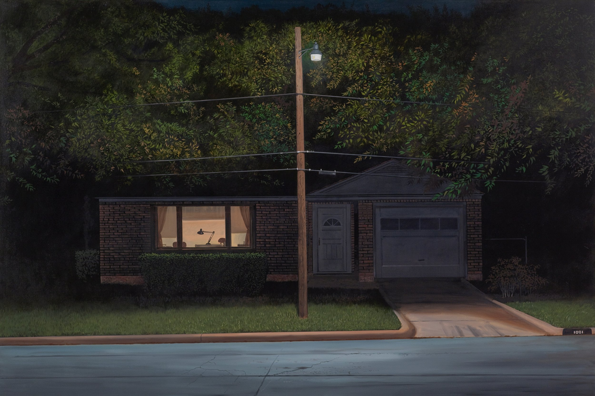 "Daniel Blagg,  Street Light,  2014, oil on canvas, 50 x 73"". Private Collection."
