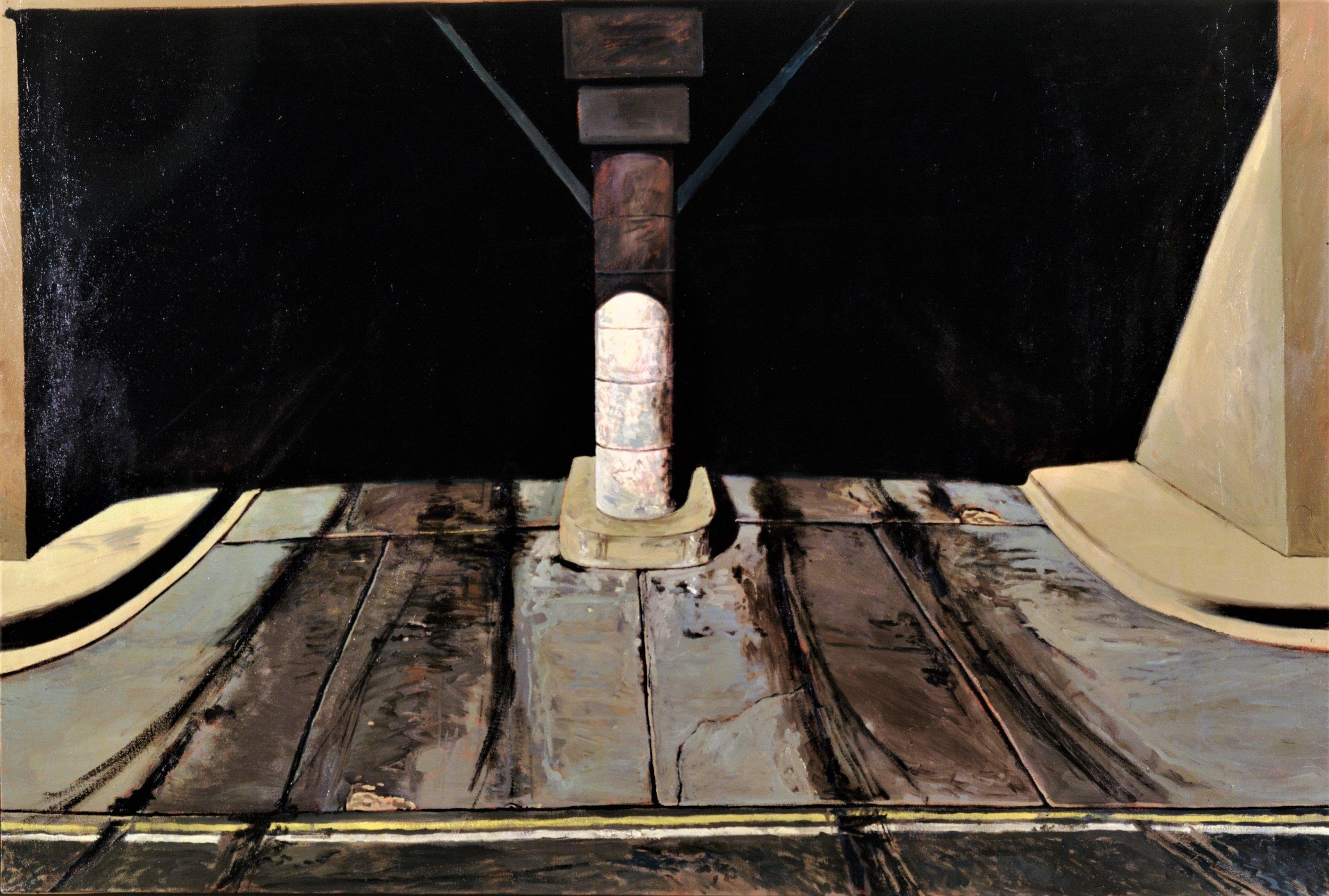 """Daniel Blagg,  Parking Garage #1 , oil on canvas, 52 x 72"""""""
