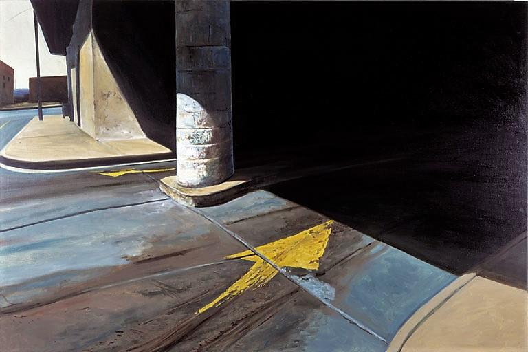 """Daniel Blagg, Parking Garage #3 , 1978, oil on canvas, 60 x 90"""""""