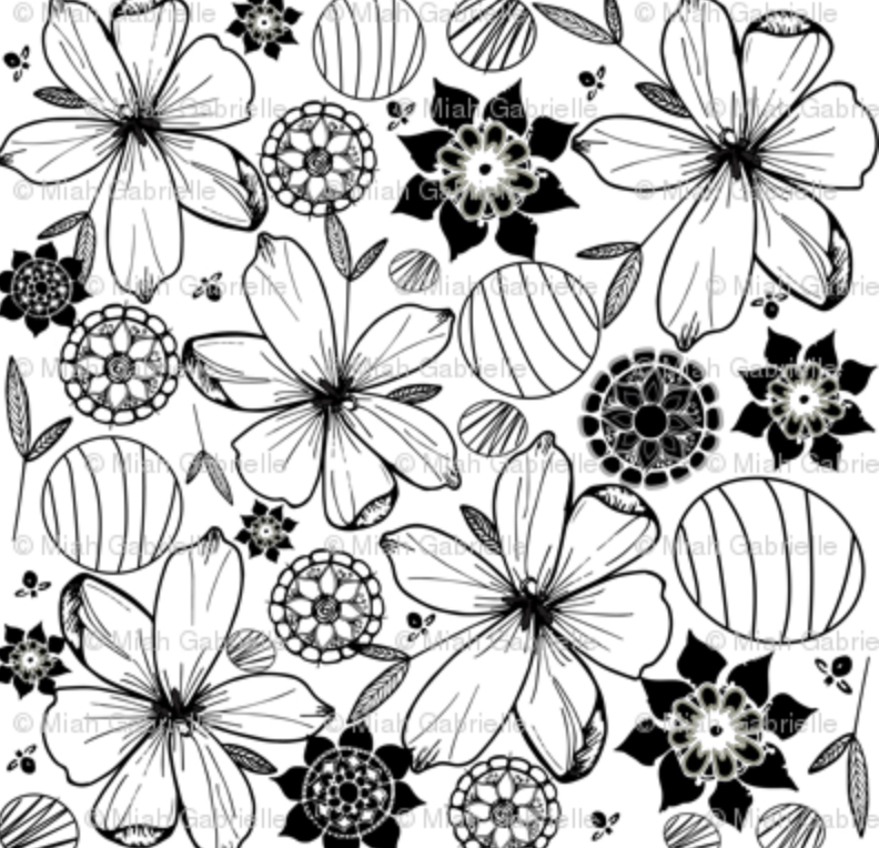 Dark & Light Floral