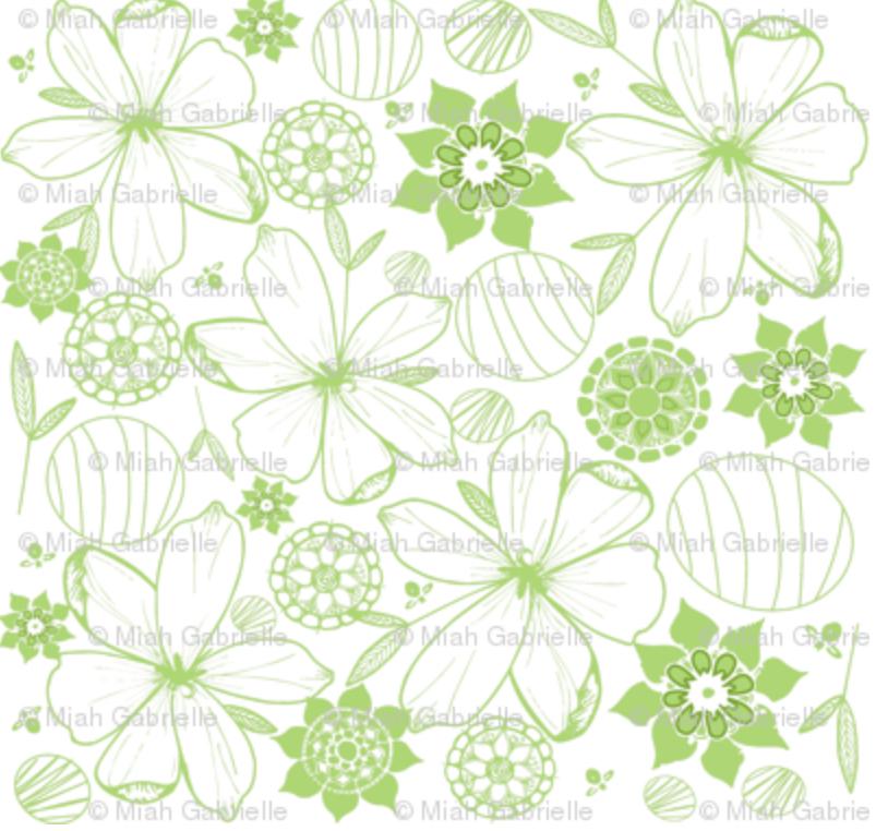 Green & Light Floral