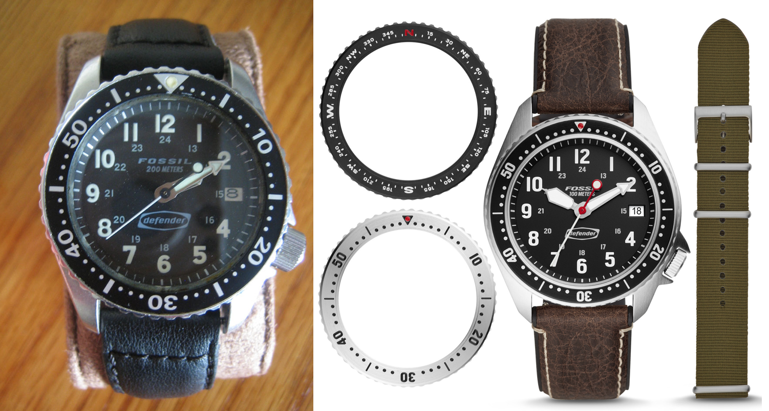 Fossil Defender DE-1527 and the newest Defender LE-1062