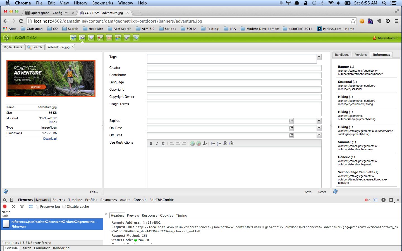Google Developer Tools > Network