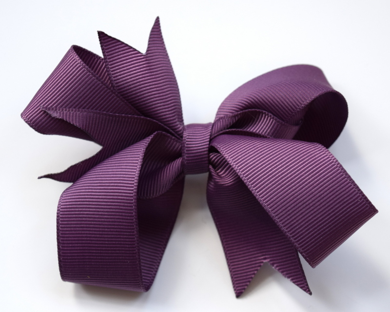 Amethyst hair bows from £3