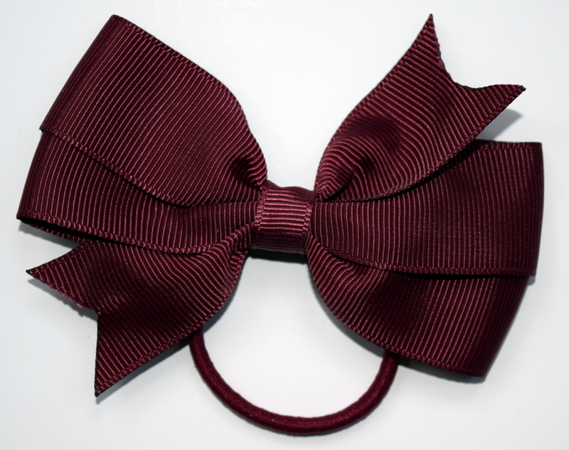 Burgundy hair bows from £3