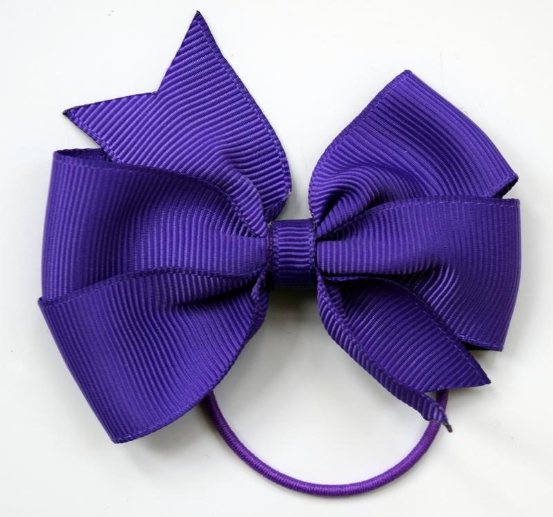 Purple medium bow