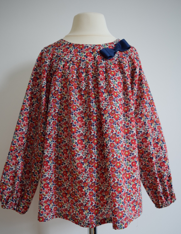 Betsy Anne red Liberty print blouse   Available in small (sold out), medium and large