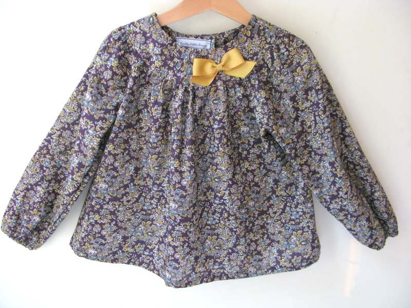Tatum purple Liberty print blouse   Available in large