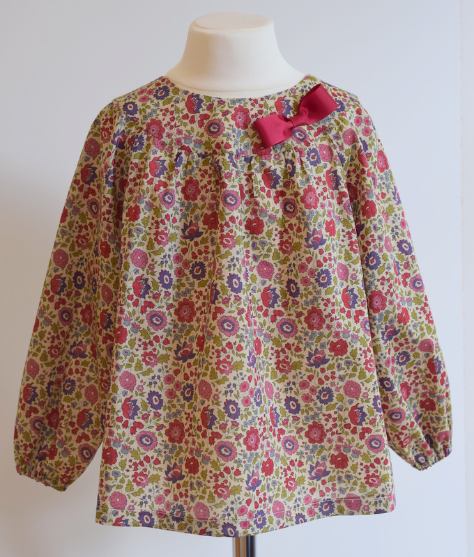D'Anjo olive Liberty print blouse   Available in small.  Medium and large SOLD OUT