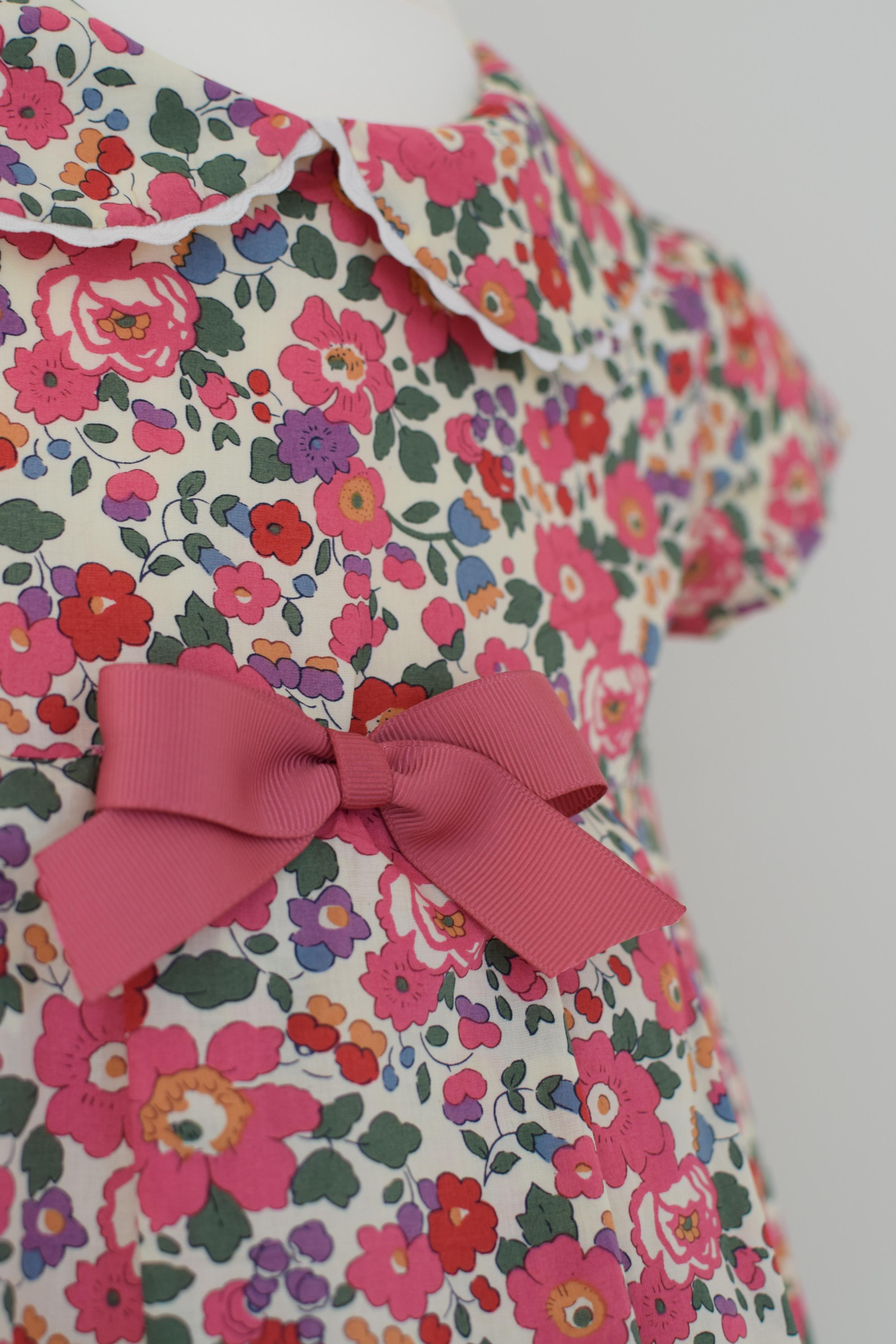 Liberty pink Betsy print cap sleeve dress