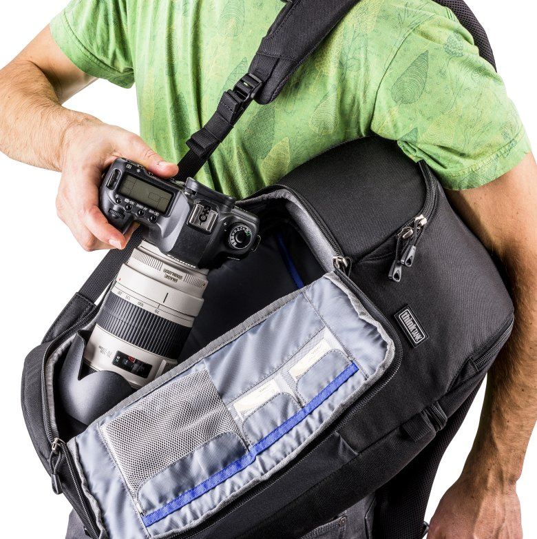 New Think Tank Trifecta Backpack in Action