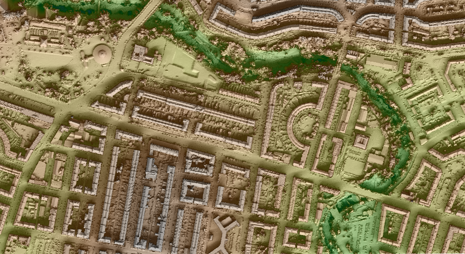 Kelvinside and Hillhead as you've never seen it before! Visualisation by Steven Kay (using SAGA and QGIS)