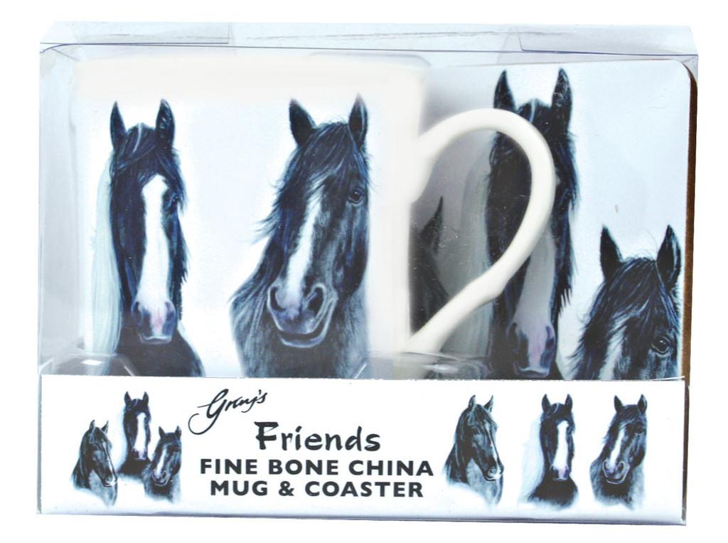 Mug and Coaster set, perfect heavy horse gift