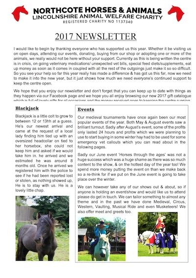 2017 horse newsletter