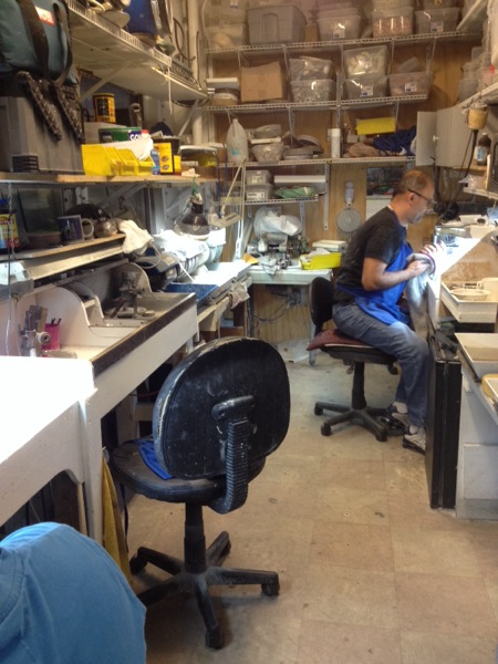 We took a tour to a lapidary - where gemstones are cut from their rough, natural form to cut and polished.