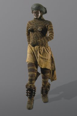 Likishi Dance Costume Shirt and Head Cover with Pwo Mask | www.BrooklynMuseum.org