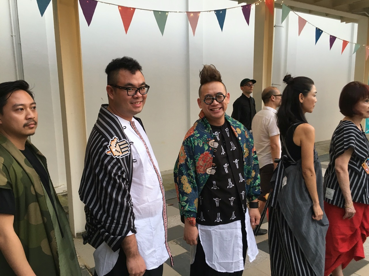 "Adrian Chan and Ryan Su at NTU CCA ""After Dark"" fashion show by Lulu Lutfi Labibi, Yogajakarta"