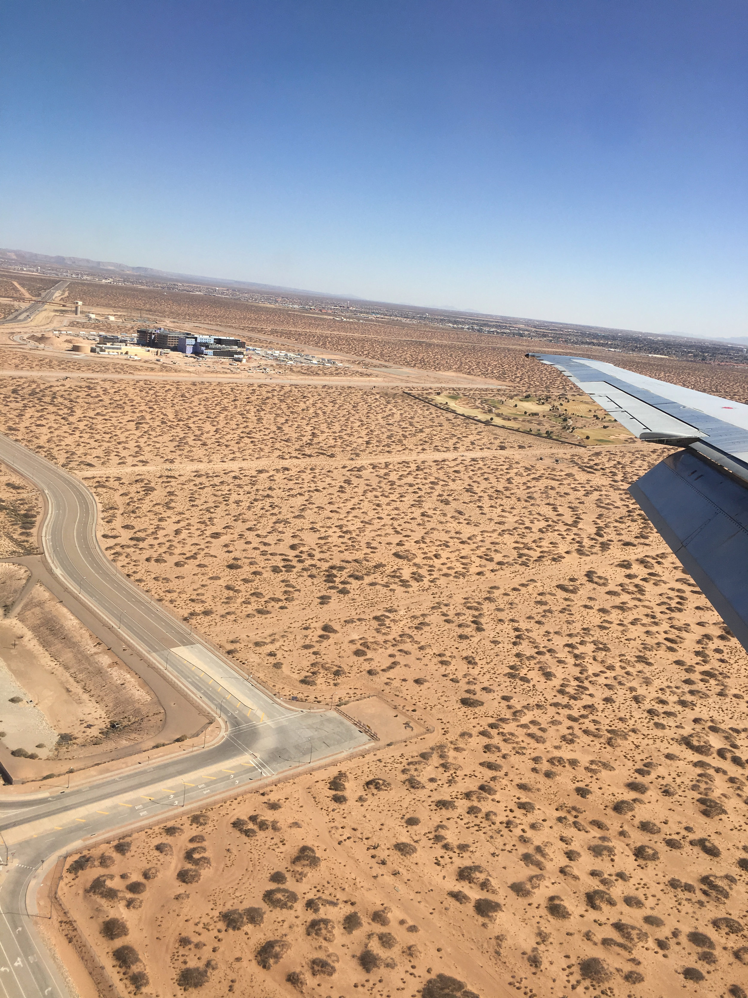 Landing in El Paso, Texas