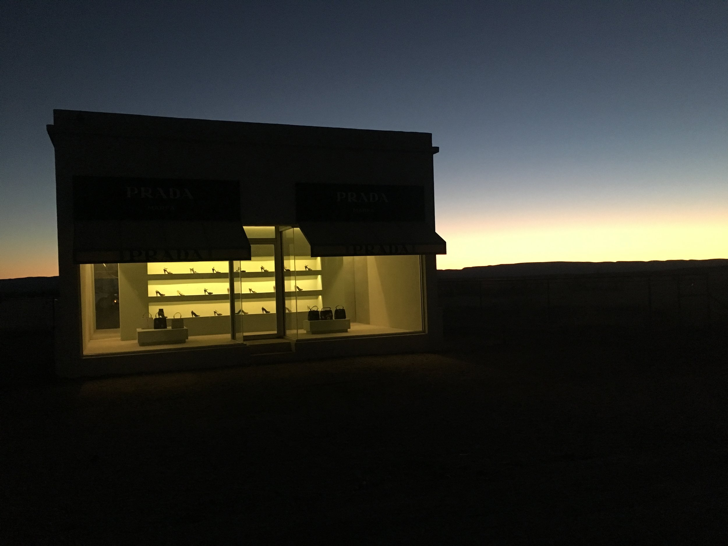 PRADA store by Elmgreen and Dragset in Valentine, Texas